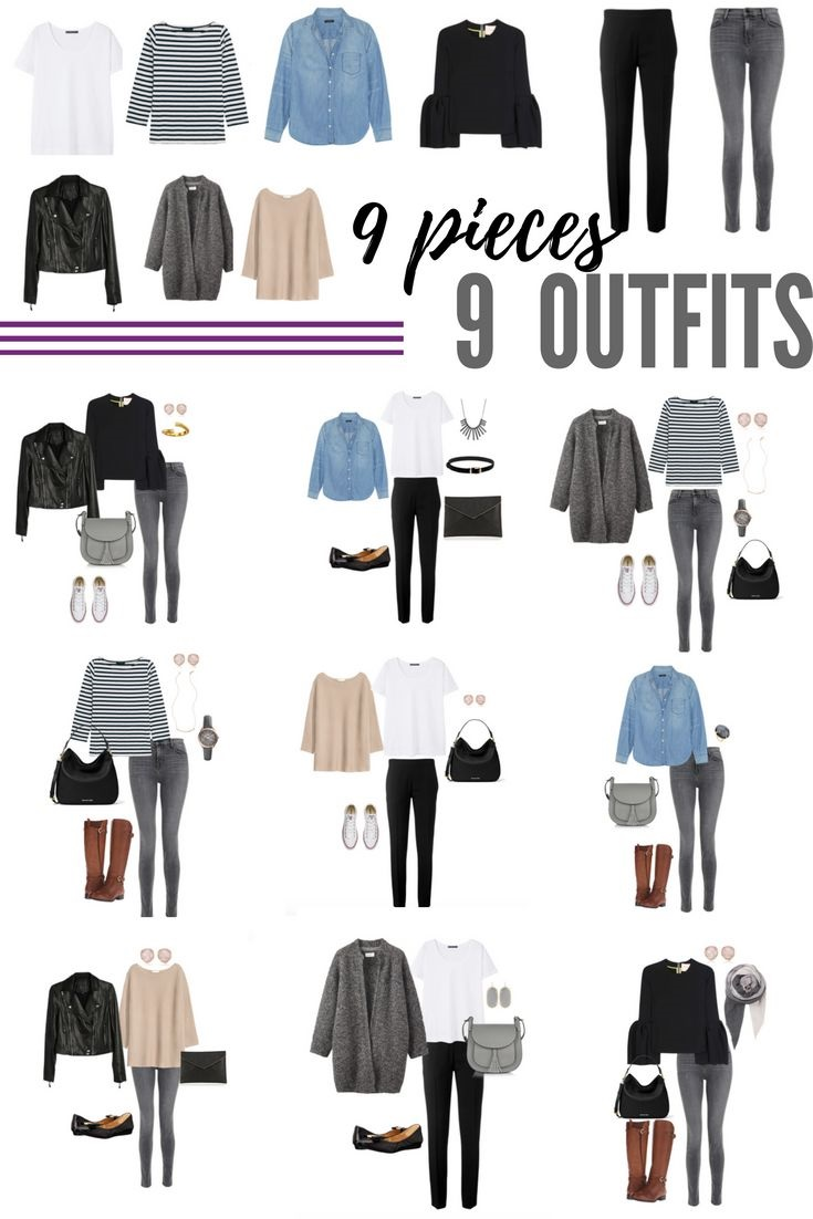 9 Pieces, 9 Outfits