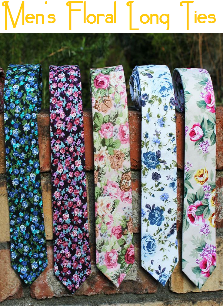 Men's Floral Long Ties