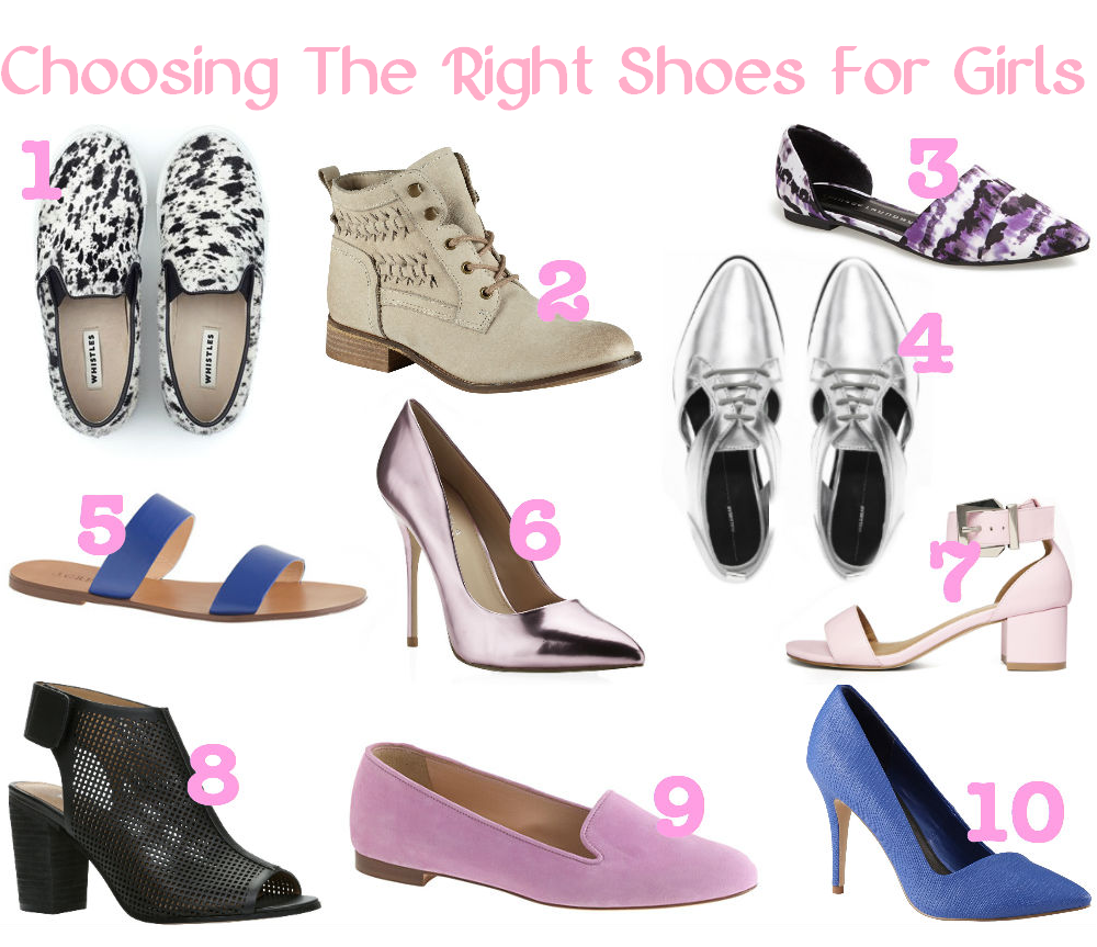 choosing the right shoes for girls