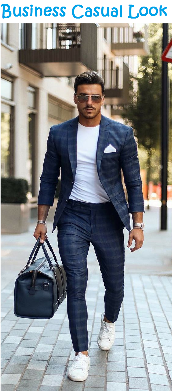 business casual look